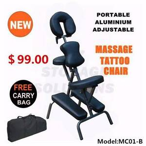 New Aluminium Portable Massage Chair Table Therapy Tattoo Bed Darra Brisbane South West Preview