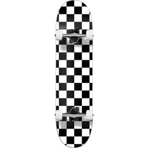 "Cal 7 White Checkerboard 8"" Complete Popsicle Skateboard"