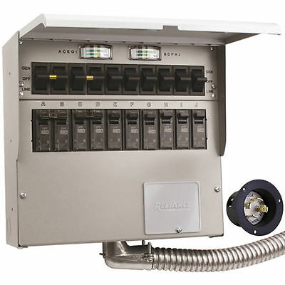 Reliance Controls Protran 2 - 30-amp 120240v 10-circuit Transfer Switch ...