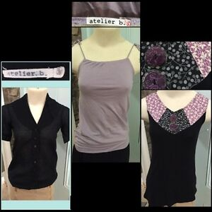 3 X-SMALL  Tops: ATELIER B & CREATION ENCORE Canadian Designers