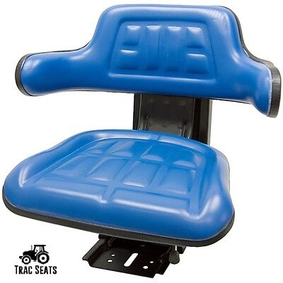 Blue Ford New Holland 5000 5600 5610 5910 Waffle Style Tractor Suspension Seat