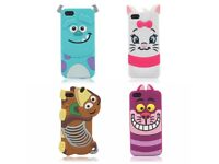 iPhone 5 6 silicone case cover slinky dog alice cat new
