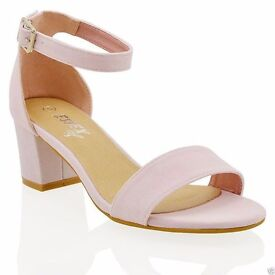 Pink block heels, new in box, size 6