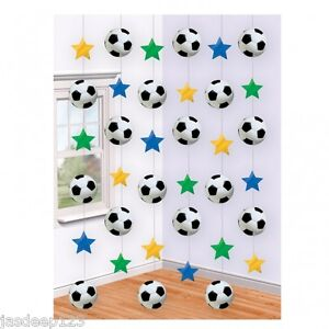 Football Soccer String Hanging Decoration 6 Piece 7 Feet Long Party Supplies
