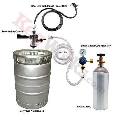 Economy Draft Beer Refrigerator Conversion Kit - European Sankey - Bar Kegerator - Kegerator Refrigerator Conversion Kit