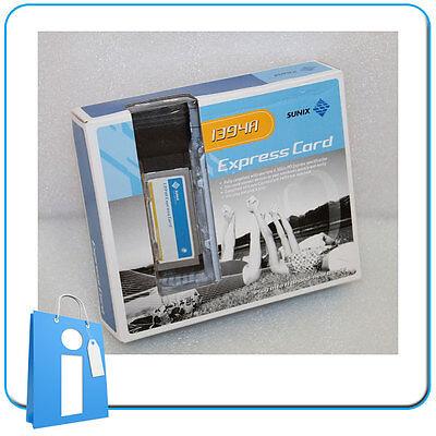 Adapter card Tarjeta ExpressCard 2 x FIREWIRE IEEE1394 Sunix ECF2400