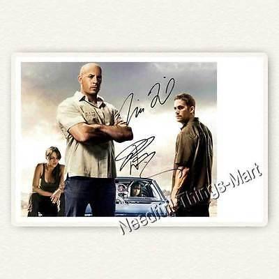 Paul Walker & Vin Diesel aus Fast & Furious   Autogrammfotokarte [A01] 