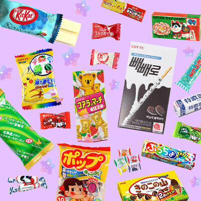 ASIAN SNACK BOX 5pc ♡ Japanese & Korean Candy Strawberry Mochi Milkita Kit Kat