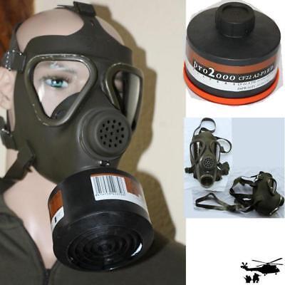Bundeswehr  M65 ABC  Maske Atemschutz +  Filter Scott PRO2000 CF22 A2-P3 mit TÜV
