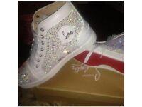 Louboutin white trainers