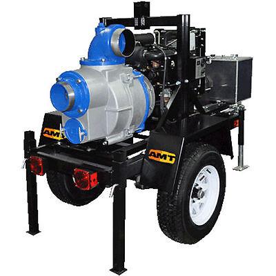 Amt Pump 5585-h6 - 1000 Gpm 6 Trailer Mounted Electric Start Trash Pump W...