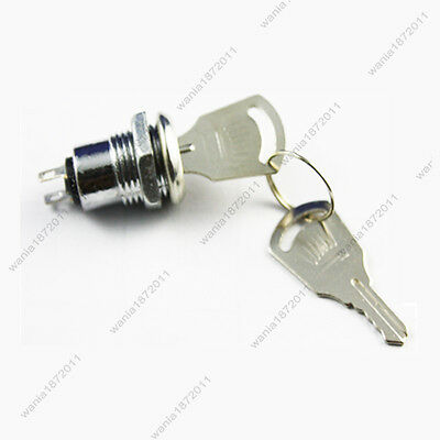 1mini Key Lock Switch 2 Pin Spst On-off 12mm Mounting Hole With 2 Keys
