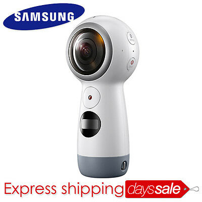 "[Brand New] SAMSUNG Gear 360 SM-R210 Camera VR Android 5.0 iOS 10.0"" 4K Video"