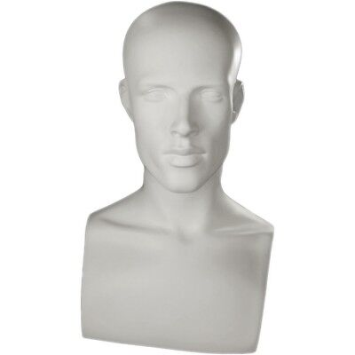 Mn-521 White Male Mannequin Abstract Head Form Display With Bust