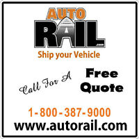 AUTO SHIPPING ACROSS CANADA BY ENCLOSED RAIL  AB10