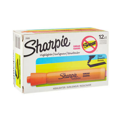 Sharpie Accent Highlighters Fluorescent Orange Pack Of 12
