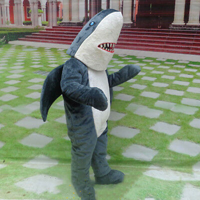 Hot Cute Dark Grey Shark Mascot Animal Whale Costume Halloween Dress Unisex Suit - Cute Shark Costume