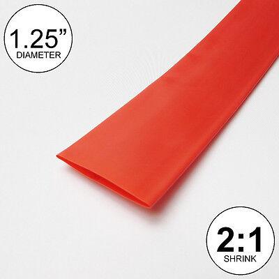 1.25 Id Red Heat Shrink Tube 21 Ratio 1-14 Wrap 10 Feet Inchftto 30mm