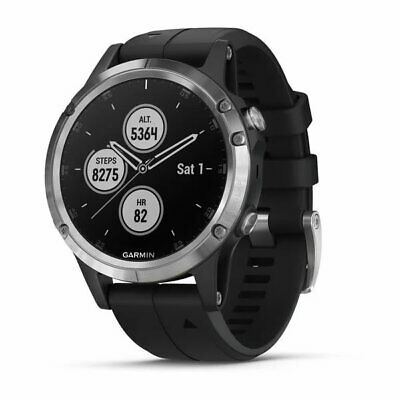 Reloj Senderismo Outdoor Running garmin Fenix 5 Plus Negro Silver 47MM