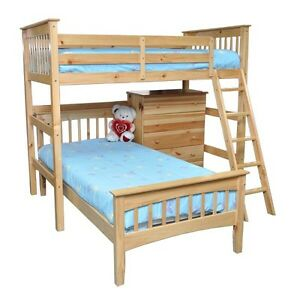 NATURAL WOOD LOFT BED (double)