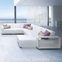 Modern Outdoor Furniture Rattan 7 Piece Sofa Lounge Modular Set Kenmore Brisbane North West Preview