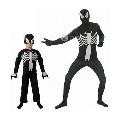 Spiderman Kostüme Preis (SPIDERMAN %%%SONDERPREIS comic peter parker spinnenbiss cosplay black kind adult)