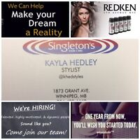 Looking for hair stylist/apprentice