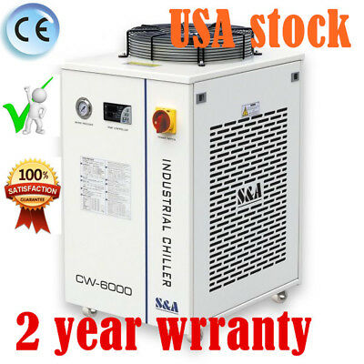 Sa Cw-6000dn Industrial Water Chiller For 30w-300w Fiber Laser Cooling Usa