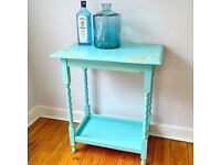 Two tone distressed shabby chic coffee side table