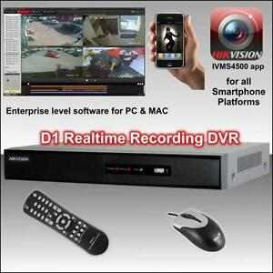 Hikvision DS-7204HWI-SH 4 channel WD1 real-time recording DVR 4CH Sydney City Inner Sydney Preview