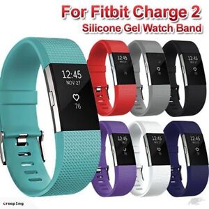 Fitbit CHARGE 2 Replacement Silicone Rubber Band Strap Wristband