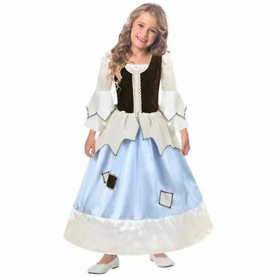 Child Girl Reversible Princess Pauper Cinderella Fancy Dress Party Costume - Reversible Cinderella Kostüm