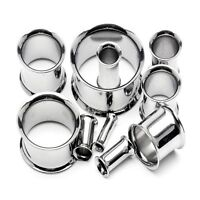 12G Double flare stainless steel ear tunnels