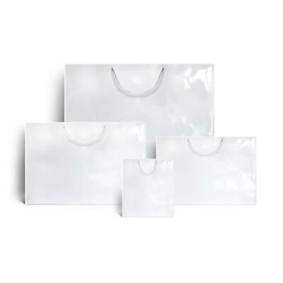 White Gloss Boutique Paper Bags - 42cm x 28cm + 12cm - Pack of 10