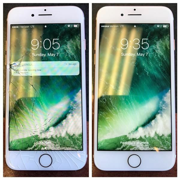 Iphone 6 Plus Screen Glass Repair Service Lcd Tempered Glass Fast Lane Express!!
