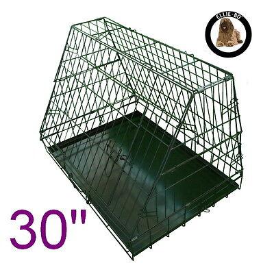 "Black 30"" Medium Sloping Foldable Car Dog Puppy Crate Hatchback Cage"