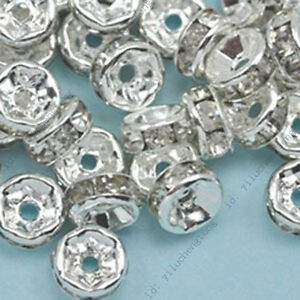 Wholesale-100pcs-Crystal-Rhinestone-Rondelle-Spacer-Beads-Size-4mm-6mm-8mm-10mm