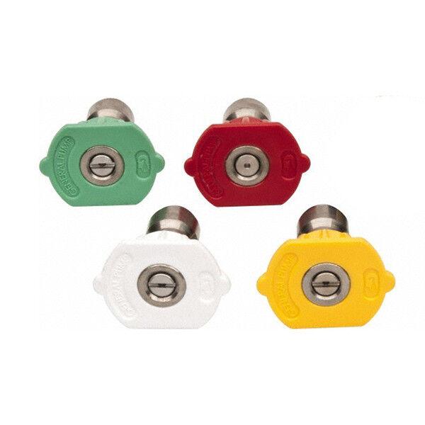 General Pump 8.708-715.0 Quick Couple Nozzle Kit 4-Pack, 050 (0°,15°,25°,40° Siz