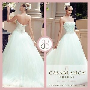 Beautiful Casablanca Mint Wedding Gown