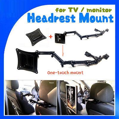 Simple lift-off type LONG length Headrest Mount for TV monitor mount VESA Plate