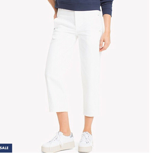 Brand New White Tommy Hilfiger Cropped Comfort Fit Jeans