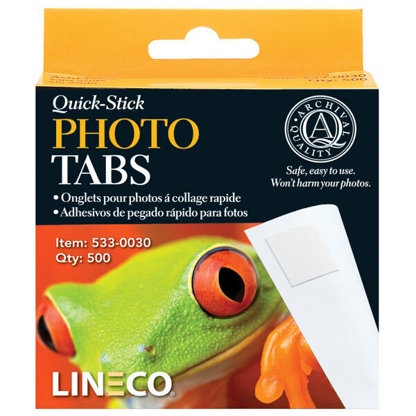 Lineco 500 Quick Stick Photo Corner tabs, Self adhesive, Acid Free  (bin 400-A)