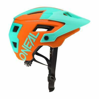 O`Neal MTB Helm Defender 2 Freeride sliver petrol orange ONEAL Gr. L/XL...
