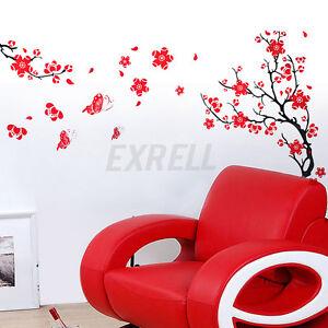 Wall-Sticker-Adesivo-Parete-Muro-Murale-Fiori-Alberi-Decorazione-Casa-70x50cm