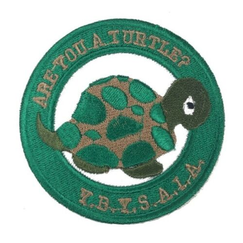 """Are You A Turtle Embroidered Patch (3"""") - OT-EP"""