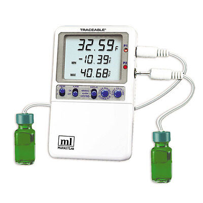 Traceable Hi-accuracy 0.01 Thermometer 2 Bottle Probes 1 Ea