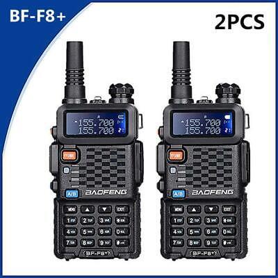 2PCS Baofeng UV-F8+(UV-5R Upgrade) UHF VHF Dual Band Two Way Radio Walkie Talkie