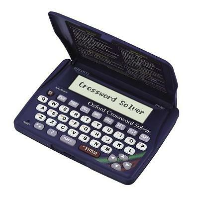 Seiko ER3200 Electronic Oxford Crossword Anagram Solver Spell Checker Thesaurus