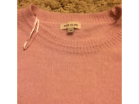 River island cashmere feel sweater size 10