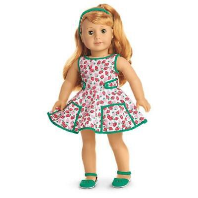 AMERICAN GIRL MARYELLEN'S STRAWBERRY OUTFIT~DRESS~HEADBAND~SHOES~NEW